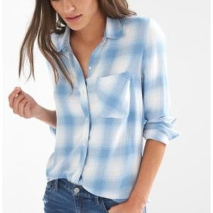 GAP Drapey Plaid Flannel